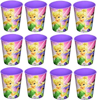 Disney Tinker Bell Reusable Cups (12x) ~ Birthday Party Supplies Plastic Favors