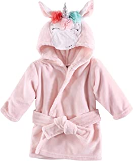 Hudson Baby Unisex Baby Plush Animal Face Robe, Pink...