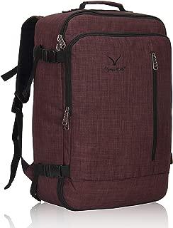 Hynes Eagle Men Backpack 38L Flight Approved Weekender Carry on Backpack Travel Backpack for Women Brown