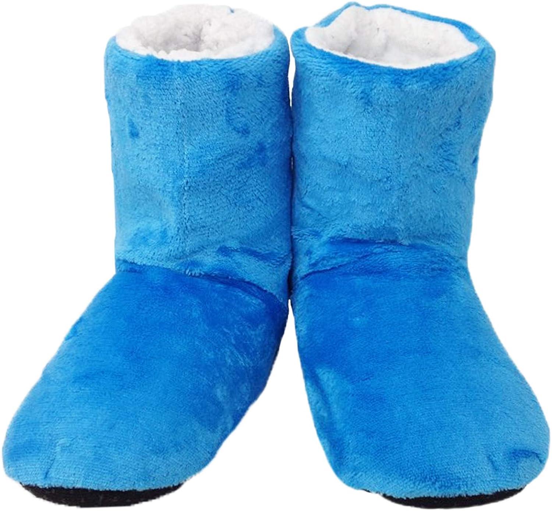 Basic Fashions Extra Long Warm Fleece Plush Indoor House Slippers Women