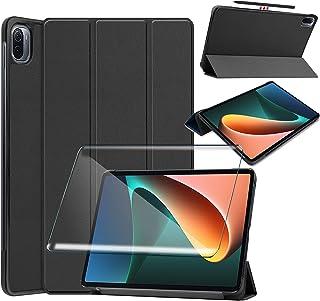 """Tasch HYMY etui do Xiaomi Pad 5 + 1 szt. folia ochronna szkło pancerne do Xiaomi Pad 5 11"""" etui - Flip Case Cover pokrowie..."""