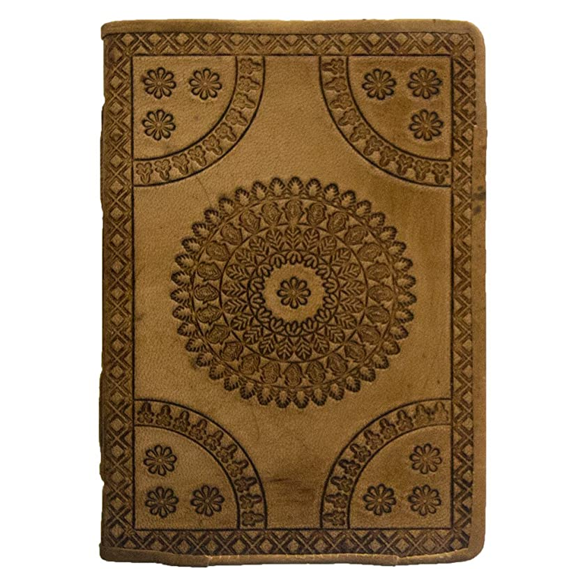 Mandala Journal - Leather Journal for Men and Women - 200 Page Notebook and Travel Journal - SongWriting Journal and Artist Sketchbook- 5x7 Inch Pages