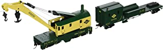 Bachmann Trains Reading (Green and Yellow) Boom Crane and Tender