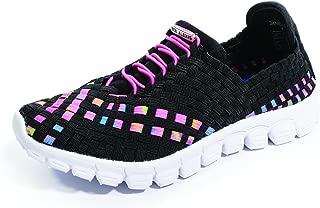Zee Alexis Women's Danielle-A Black/Neon Multi Sneakers, Medium