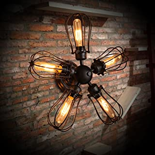 MX Light Fixture Industrial Wind Wall Lamp Retro Creative Cafe/Dining Room/Wrought Iron Wall Light Dual-use Industrial Win...