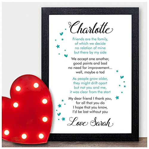 PERSONALISED Best Friend Friendship Plaque Sign Birthday Christmas Gifts Present