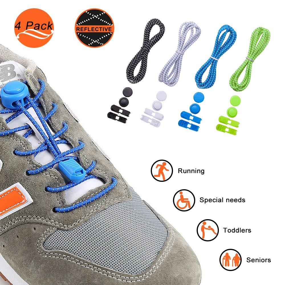 Iprotek - Cordones elásticos para Zapatos de Correr para niños, sin ataduras, para Adultos, Zapatillas Deportivas, Tenis y Botas, Cordones Planos sin Atar, para Actividades al Aire Libre: Amazon.es: Deportes y aire