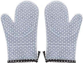 Lurrose 2Pcs Luvas de Forno Luvas de Cozinha Resistentes Ao Calor Luvas de Forno Anti-Derrapantes Luvas de Cozinha para Ch...