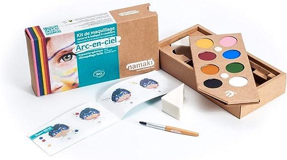 NAMAKI Kit de 6 crayons de maquillage Arc-en-ciel