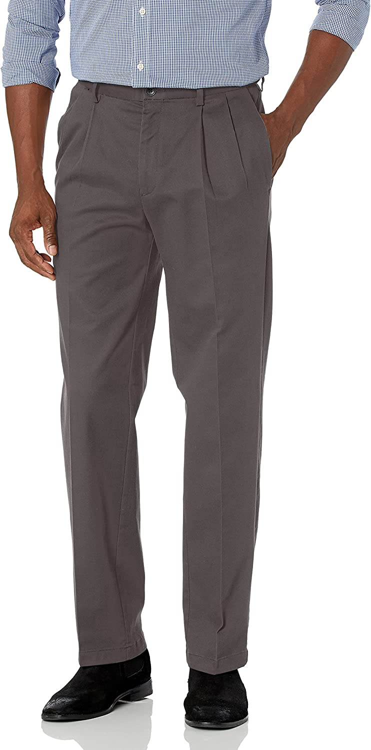 Haggar Men's Work to Weekend Pro Front Pleat メーカー直送 Fit Classic Pant 2020モデル