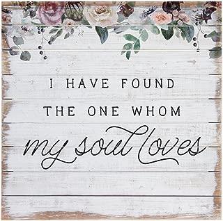 Sincere Surroundings PAL1269 Soul Loves, 14 x 14, White