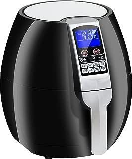 SUPER DEAL Pro 3.7Quart Electric Air Fryer w/ 8 Cooking Presets, Temperature Control, Auto Shut off & Timer, LCD Digital Display Screen (Black) (Black)