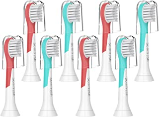 Kids Replacement Heads, Compact Sonic Care Toothbrush Heads for Kids 3-7 Years Old,Compatible with Philips Sonicare HX6032/94, HX6340, HX6321, HX6330,HX6331, HX6320, HX6034, 8 pack