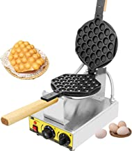CGOLDENWALL Electric Bubble Waffle Iron Maker Hong Kong eggettes Waffle Baker Commercial Non-Stick 0-300℃ Temperature Adjustable 110V CE Certification