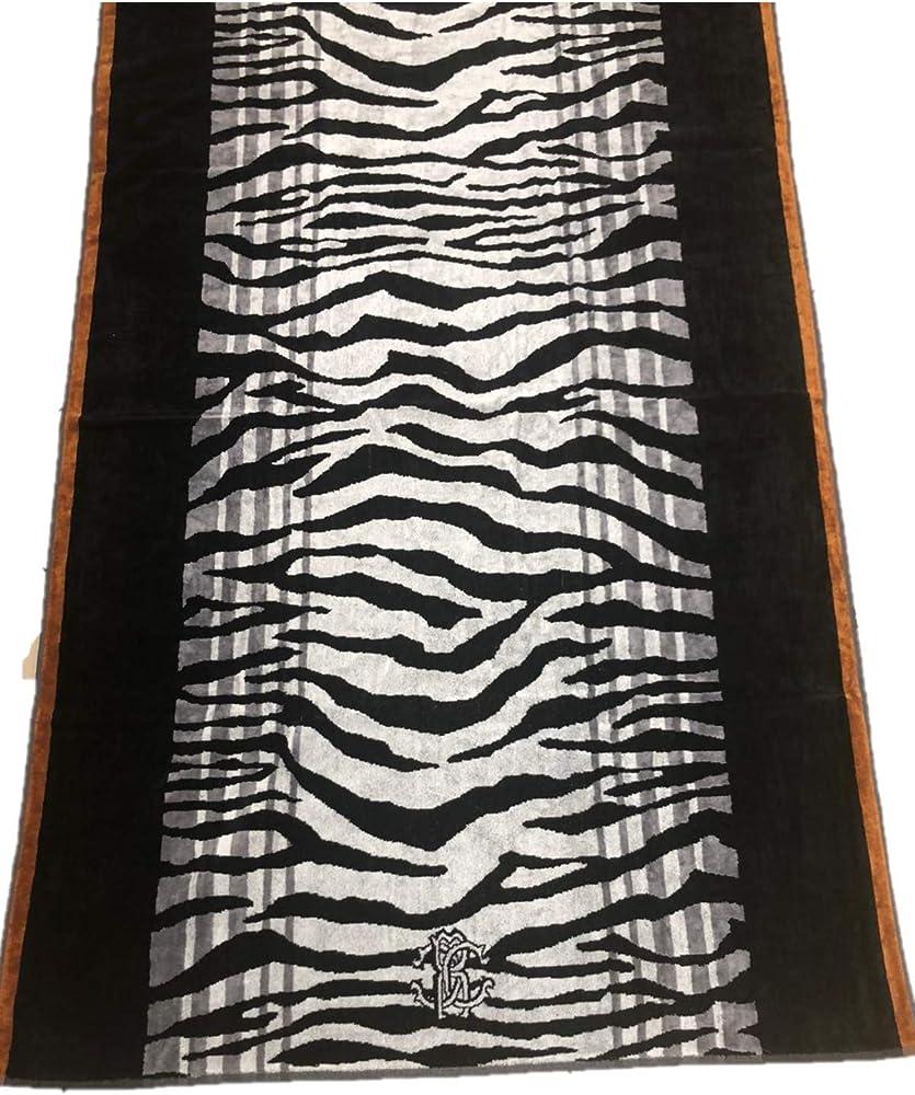 Roberto cavalli, telo bagno 95 x 180 cm,in spugna velours in puro cotone 100% Art. Zeb