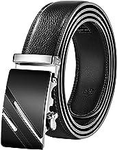mimiliy Lederen riem lederen automatische gesp zwarte riem heren riem heren riem riem heren(riemlengte:130cm Kleur:17)