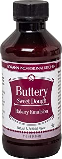 LorAnn Buttery Sweet Dough Bakery Emulsion, 4 ounce bottle