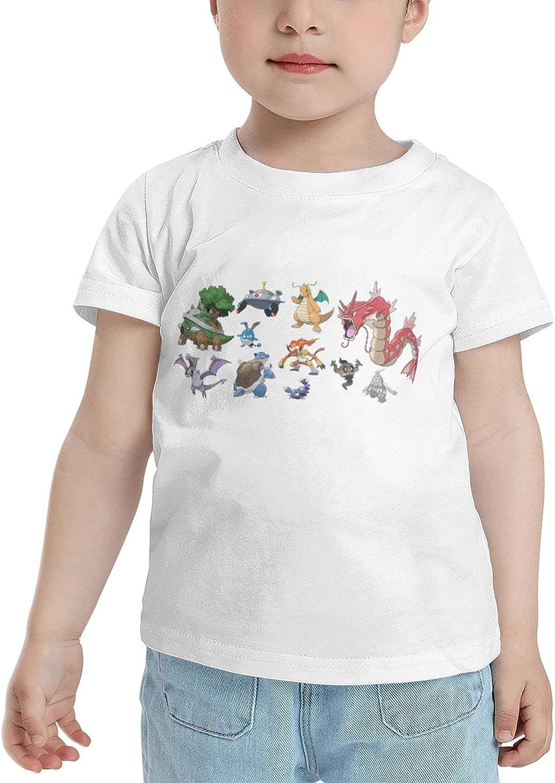 Poke Snorlax T Shirt Kid Child Shirts Classic Short Sleeve Tops Tshirts Tshirts for Boy Girl's Boy's