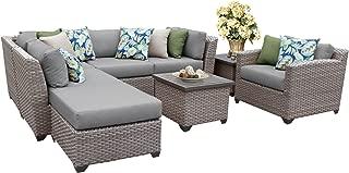 TK Classics FLORENCE-08g 8 Piece Outdoor Wicker Patio Furniture Set