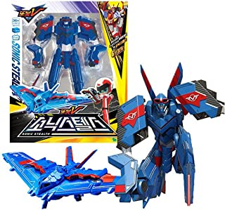 Tobot V YoungToys Sonic Stealth Transforming Robot Figure Vehicle Fighter Plane Toy for Boys (Single Product)