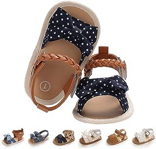 Baby Girl Sandals Summer Crib Shoes Bowknot Soft Sole Infant Girls Princess Dress Flats First Walker Shoes