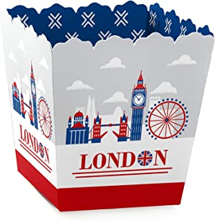 Big Dot of Happiness Cheerio, London - Party Mini Favor Boxes - British UK Party Treat Candy Boxes - Set of 12
