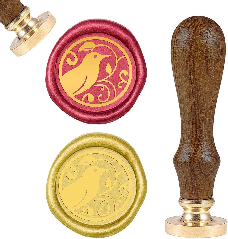 craspire Wax Seal Stamp Eichh/örnchen Retro Sealing Wax Stamp Tier Mit Abnehmbarem Messingkopf Holzgriff F/ür Umschlagkartenpaket Dekoration