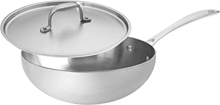 American Kitchen Cookware Premium Stainless Steel Saucier, 3 Quarts