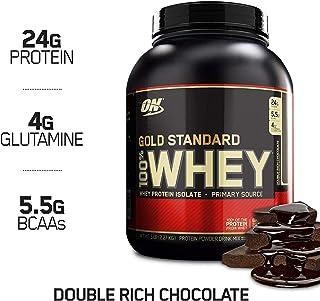 Optimum Nutrition ON Gold Standard 100% Whey Proteína en Polvo Suplementos Deportivos, Glutamina y Aminoacidos, BCAA, Double Rich Chocolate, 73 porciones, 2.26 kg, Embalaje puede variar