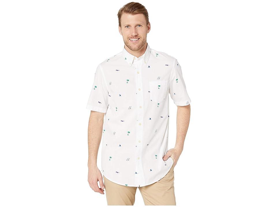 CHAPS Fashion-Short Sleeve-Sport Shirt (White) Men