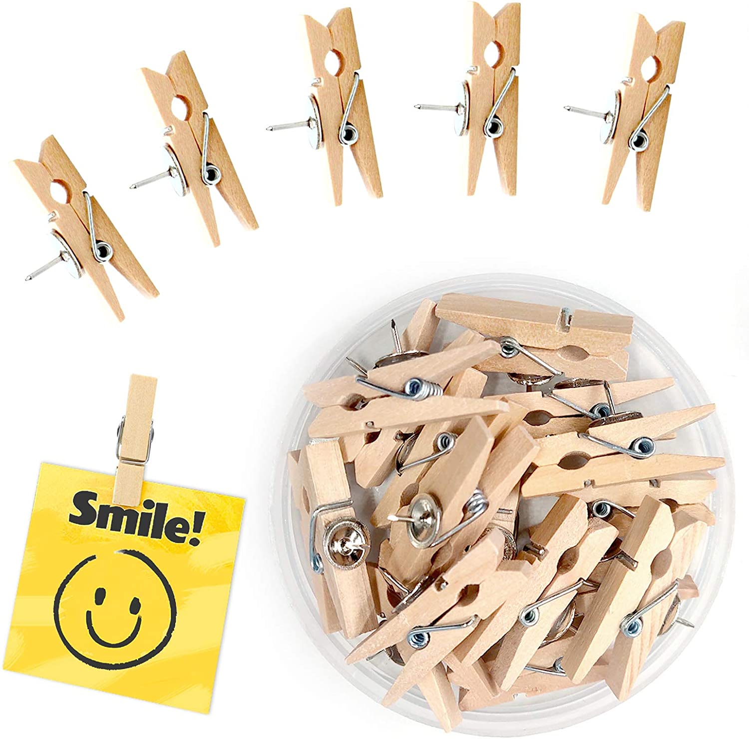 Recommended 30pcs Push Pins with lowest price Wooden Tacks for Pushpins Thumbtacks Clips