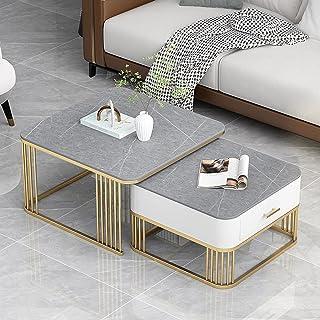 CJDM Table Basse Enfant-mère, Combinaison de Table Basse de Taille Luxe légère, Petite Table Basse carrée créative de Salo...