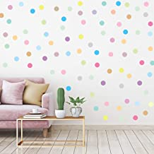 240 Pieces 2 Inch Multi-Color Dots Wall Stickers Vinyl Polka Dots Decals Circle Wall Stickers for Kids Boys Girls Bedroom ...