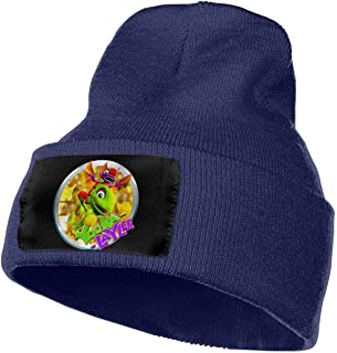 AOOEDM Hommes et Femmes Yooka-Laylee Skull Beanie Hats Winter Knitted Caps Soft Warm Ski Hat Black