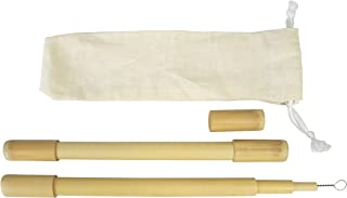 Bamboo Drinking Straws with Coconut Fiber Brush | Biodegradable Reusable Eco-Friendly Alternative to Plastic, Good for Hea...