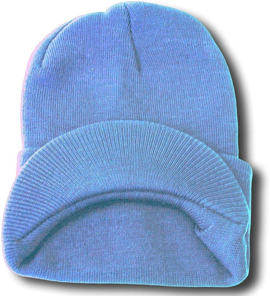 TOP HEADWEAR TopHeadwear Cuff Visor Winter Beanie