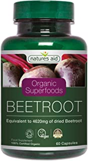 Natures Aid 462 Mg Organic Beetroot Extract, 60 Capsules