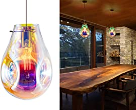 Modern Glass Island Pendant Light Lava Irregular Shape Chic 1 Light Chandelier Colorful Contemporary Hanging Ceiling Lighting for Kitchen Island Living Dining Room Bedroom by Bewamf