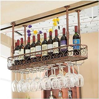 HZWLF Casier à Verre à vin, casier à Verre Ktv Bar, casier à Pied à l'envers, casier à Verre à vin Suspendu créatif, casie...