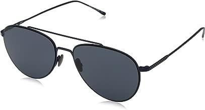 للجنسين من Lacoste l195s Petite قماش بيكة نظارات Aviator الشمسية ، مطفأ اللمعة ، باللون الأزرق ، 56مليمتر