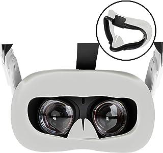NEWZEROL VR silikon ansiktsskydd kompatibelt med Oculus Quest 2, svettsäker lätt halkfri tvättbar ersättningspads VR-tillb...