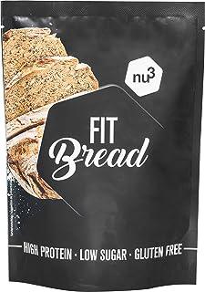 comprar comparacion nu3 Fit Bread - 230 g de harina para pan integral con proteína - 15 veces menos carbohidratos - Bajo en azúcar, grasa y si...