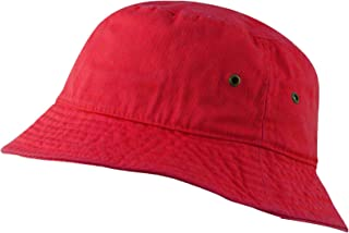 USBingoshop Men Women Unisex Cotton Plain Color Boonie Safari Fishing Bucket Hat