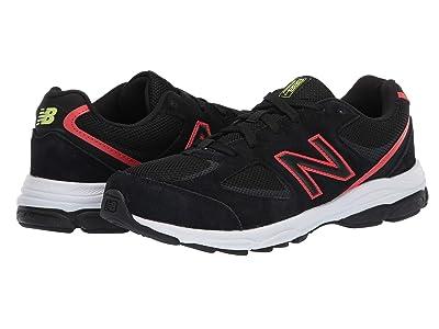 New Balance Kids GK888v2 (Big Kid) (Black/Neo Flame) Boys Shoes