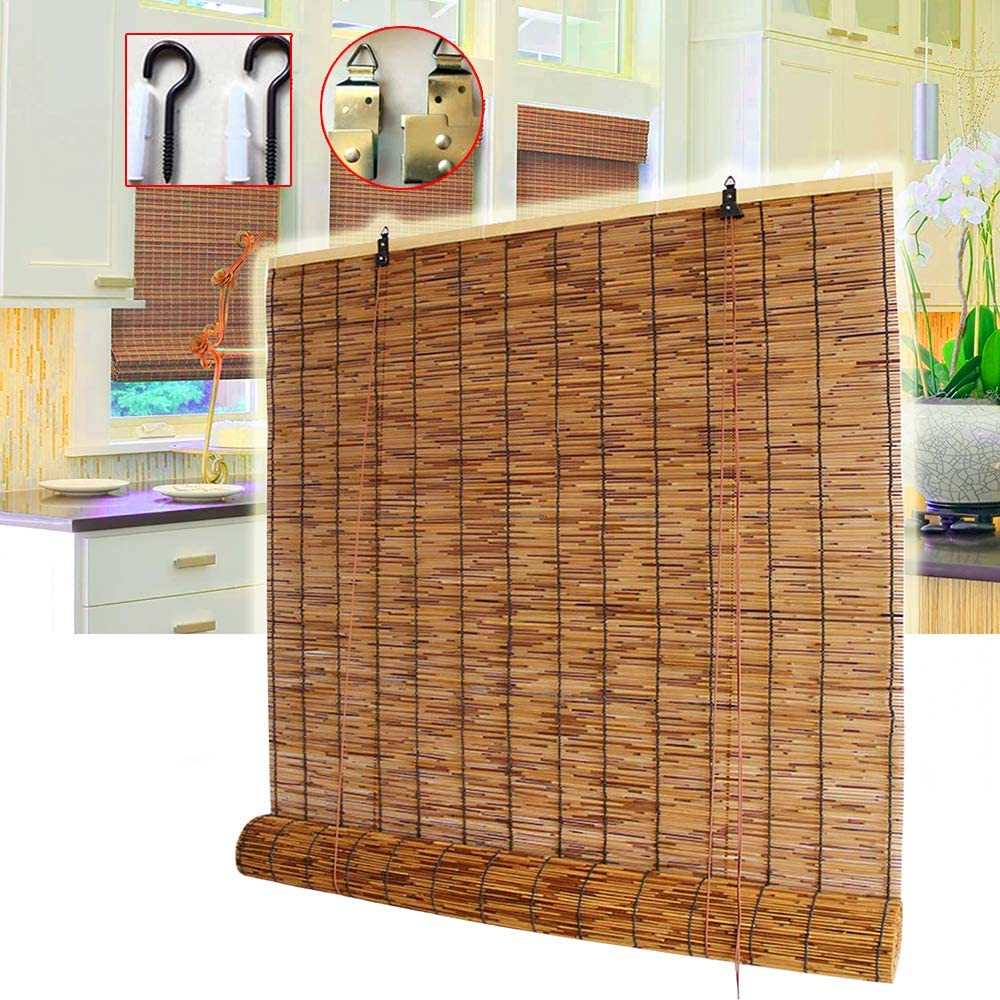 Bamboo curtain Roller Blind Blinds 28