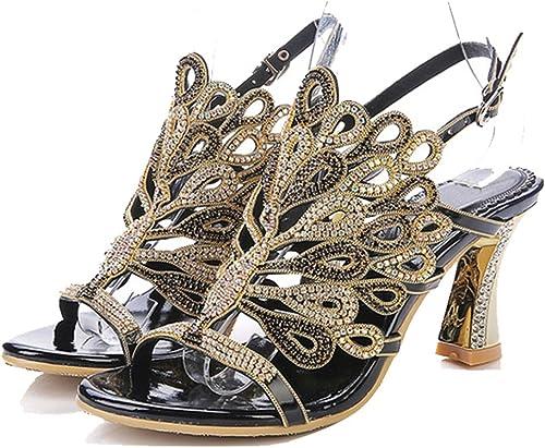 Talons hauts l'europe et Les états-Unis - Sandales Sandales à Diamants Haut de Gamme Fines avec des Chaussures épaisses avec des Chaussures à Chaussures pour Femmes  vente en ligne économiser 70%