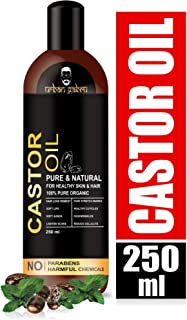 UrbanGabru Cold Pressed Castor Oil for hair, dry skin -100% Pure organic 250 ml