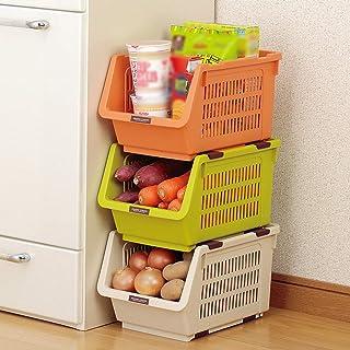 MU Ménage Boîte de Rangement portative Cuisine en Bois Massif Plastique Multicouche en Plastique - Légumes Debout Classifi...