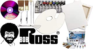 Bob Ross Painting Supplies 18 Piece Flagship Master Paint Set & DVD - The Joy of Painting Landscape Oil Kit with Canvas and Palette