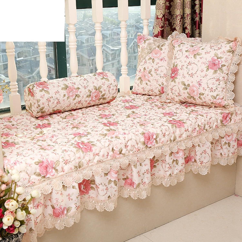 Window sill Cushion,Luxury Retro Bay Window Flax Tatami Iving Room Bedroom Balcony-B 90x240cm(35x94inch)